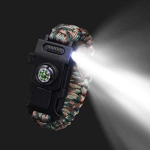 LED Flashlight Survival Bracelet