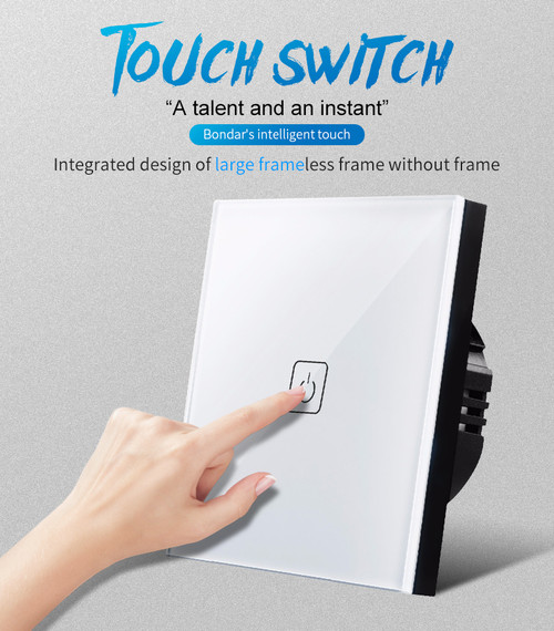 Glass Panel Wall Light Touch Switch