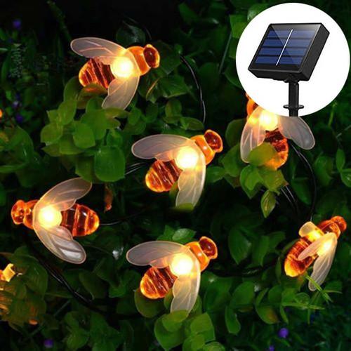 Solar Honey Bee LED Fairy Lights