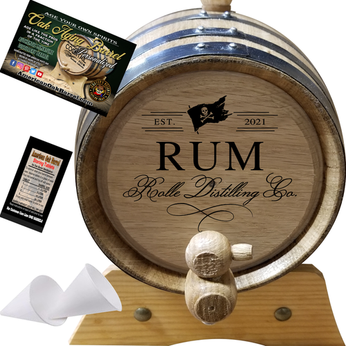 Rum Distilling Co. (400) - Personalized American Oak Rum Aging Barrel