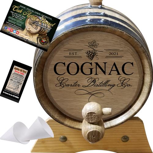 Your Cognac Distilling Co. (407) - Personalized American Oak Cognac Aging Barrel