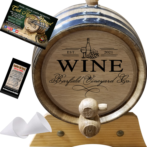 Your Wine Vineyards Co. (409) - Personalized American Oak Rum Aging Barrel