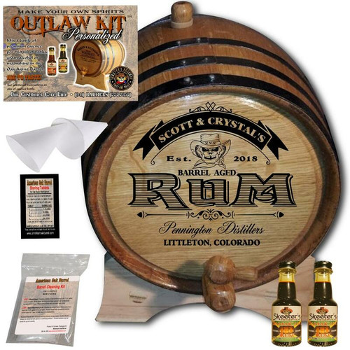 Personalized Outlaw Kit™ (100) Barrel Aged Rum - Create Your Own Spirits