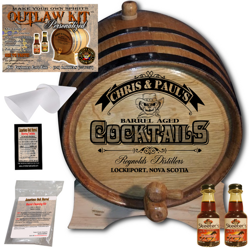 Personalized Outlaw Kit™ (108) Barrel Aged Cocktail - Create Your Own Spirits