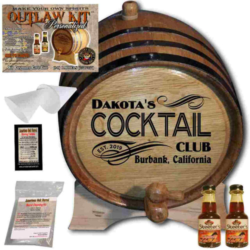 Personalized Outlaw Kit™ (208) My Cocktail Club - Create Your Own Spirits Cocktail