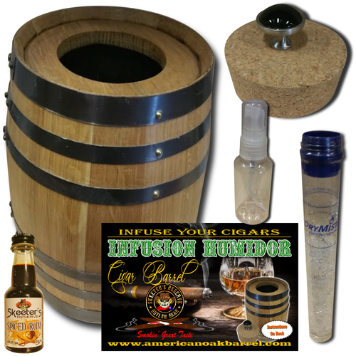 Infusion Humidor Cigar Barrel™ from Skeeter's Reserve Outlaw Gear™ - Spiced Rum