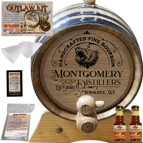 """Personalized Outlaw Kitâ""""¢ (302) Handcrafted Fine Bourbon - Create Your Own Spirits"""