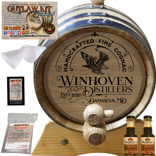Personalized Outlaw Kit™ (306) Handcrafted Fine Brandy - Create Your Own Spirits - Cognac