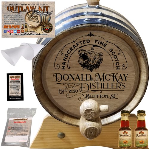 Personalized Outlaw Kit™ (301) Handcrafted Fine Scotch - Create Your Own Spirits