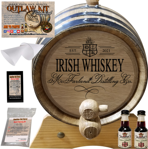 Personalized Outlaw Kit™ (405) Your Irish Whiskey Distilling Co. - Create Your Own Spirits