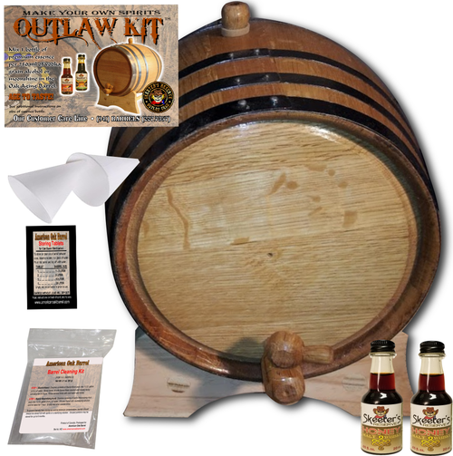 Barrel Aged Whiskey Making Kit - Create Your Own Honey Malt Whisky - The Outlaw Kit™ from Skeeter's Reserve Outlaw Gear™ - MADE BY American Oak Barrel™