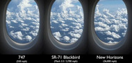 Boeing 747 vs. SR-71 Blackbird vs. New Horizons Deep-Space Probe