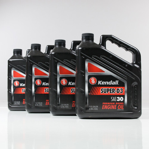 Kendall Super D-3 30W Engine Oil | 4/1 Gallon Case