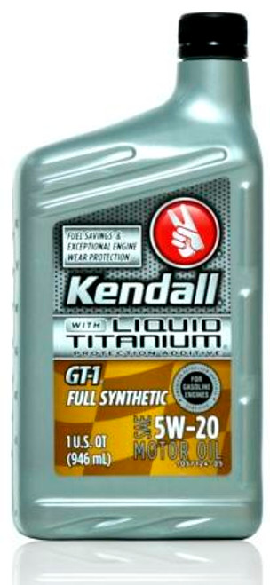 Kendall GT-1 Full Synthetic 5w-20 Liquid Titanium | 12/1 Quart Case