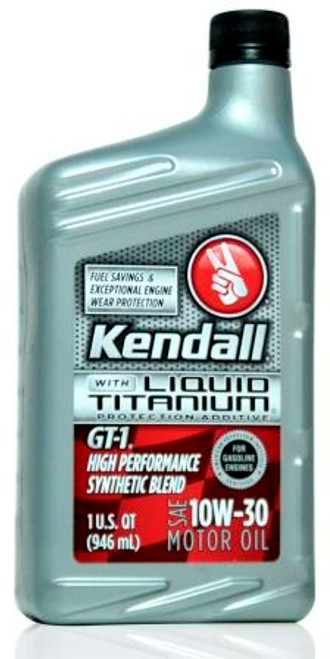 Kendall GT-1 High Performance Synthetic Blend 10w-30 | 12/1 Qt. Case