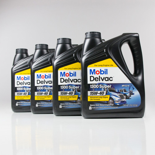 Mobil Delvac 1300 Super 15w-40, API CK-4 | 4/1 Gallon Case