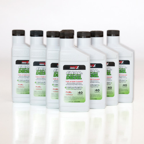 Power Service Clear-Diesel Fuel and Tank Cleaner, 9/16 oz. Bottle Case