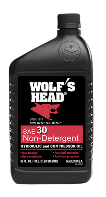 Wolf's Head Non-Detergent Motor Oil 30W | 12/1 Quart Case