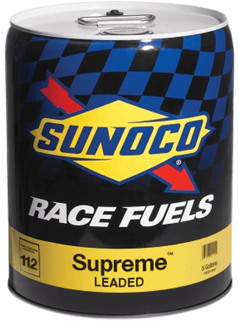 Sunoco Supreme 112 Octane Race Fuel, 5 Gallon Pail