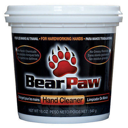 Bear Paw Hand Cleaner   6/18 Oz. Tubs