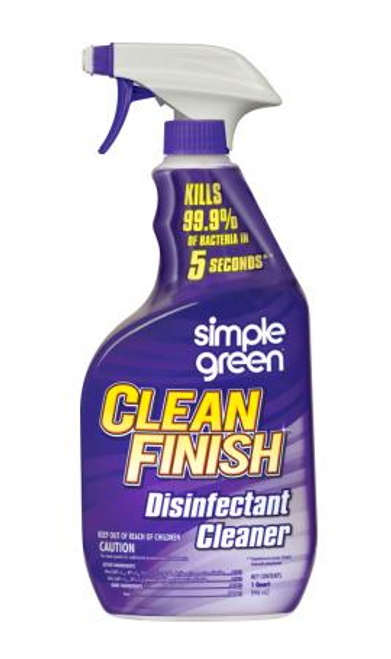 Simple Green Clean Finish Disinfectant Cleaner | 12/1 Quart Case