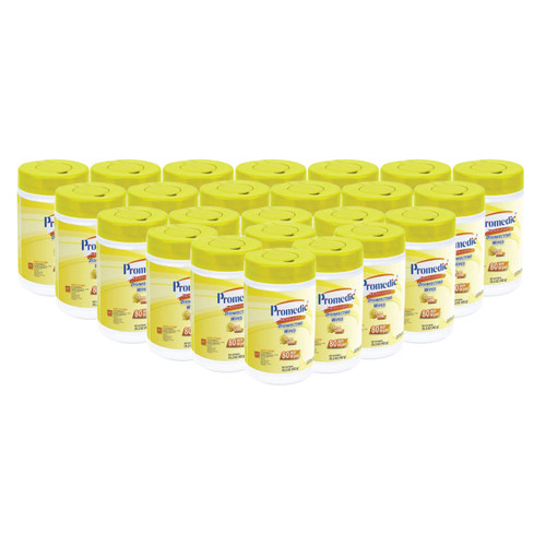 Promedic Disinfecting Wipes Lemon Scent | Case of 24 Bottles