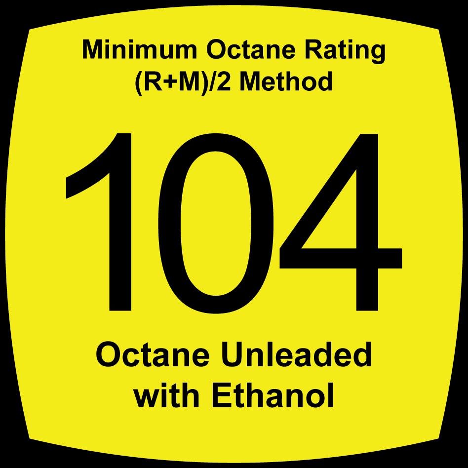 4.7 Percent Oxygenated, 104 Octane, Unleaded Fuel
