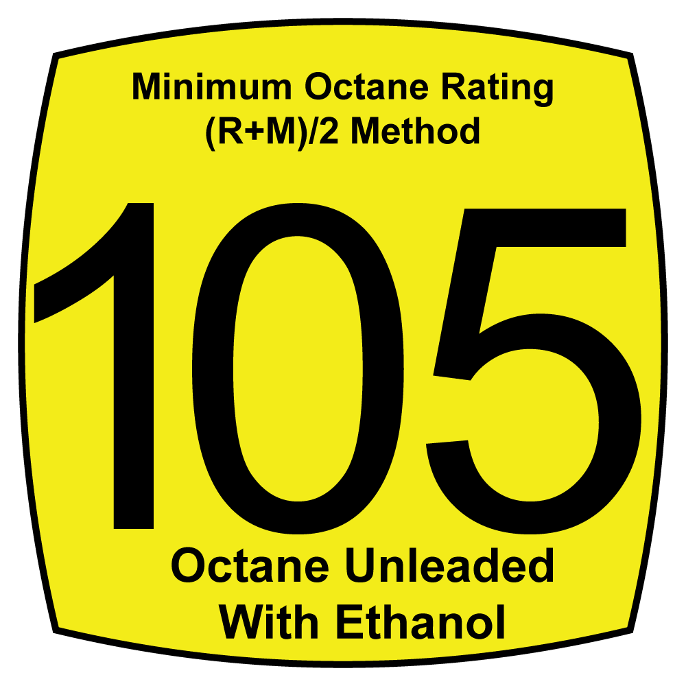105 Octane Unleaded Fuels