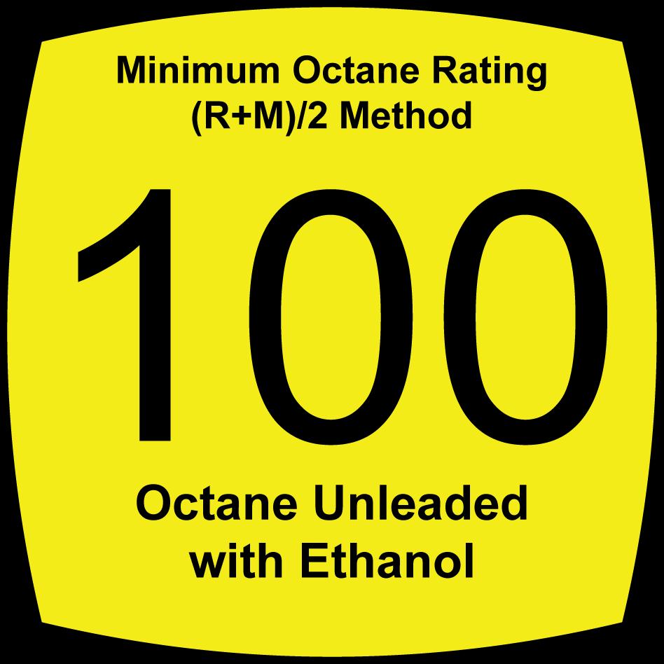 3.7 Percent Oxygenated, 100 Octane, Unleaded Fuel