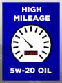High Mileage SAE 5w-20