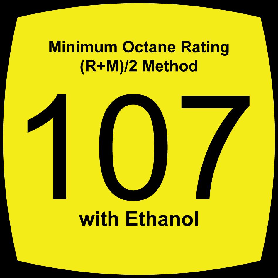 10 Percent Oxygenated, 107 Octane, Leaded Fuel