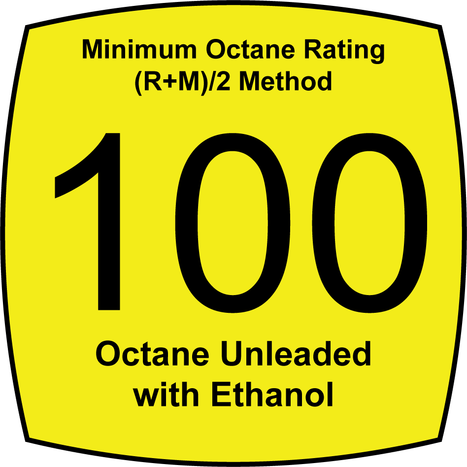 Unleaded 100 Octane Fuel with Ethanol