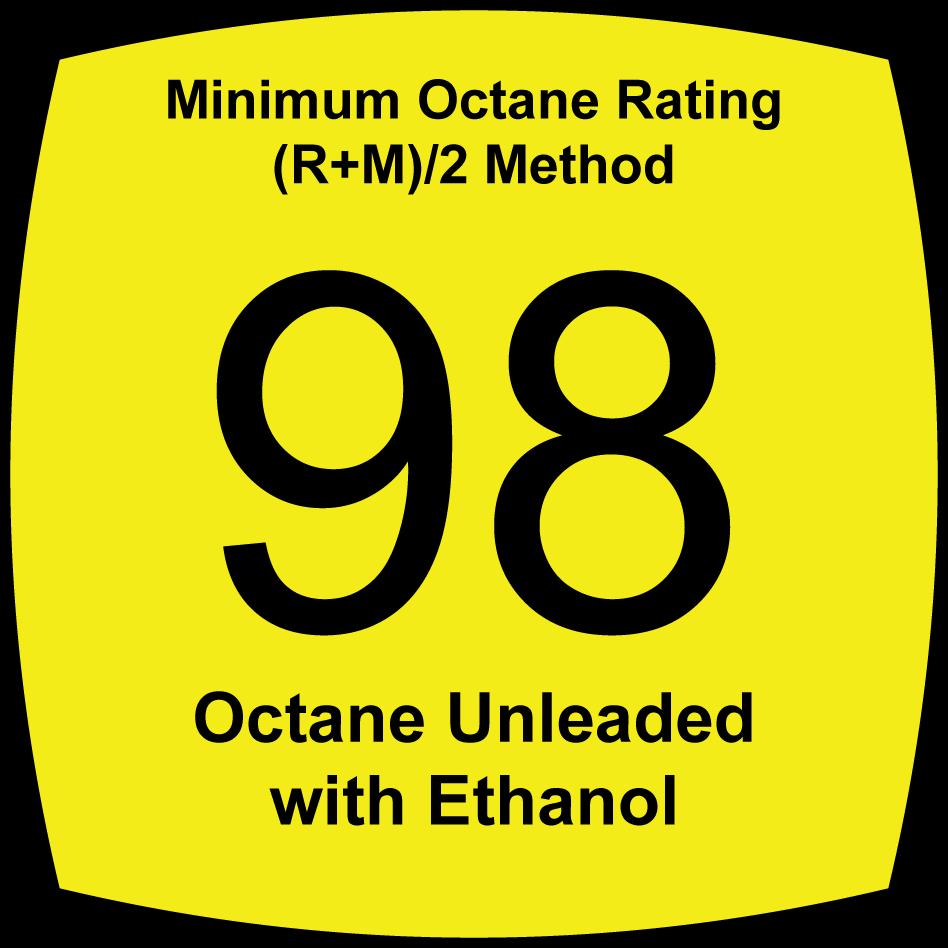 5.6 Percent Oxygenated, 98 Octane, Unleaded Fuel
