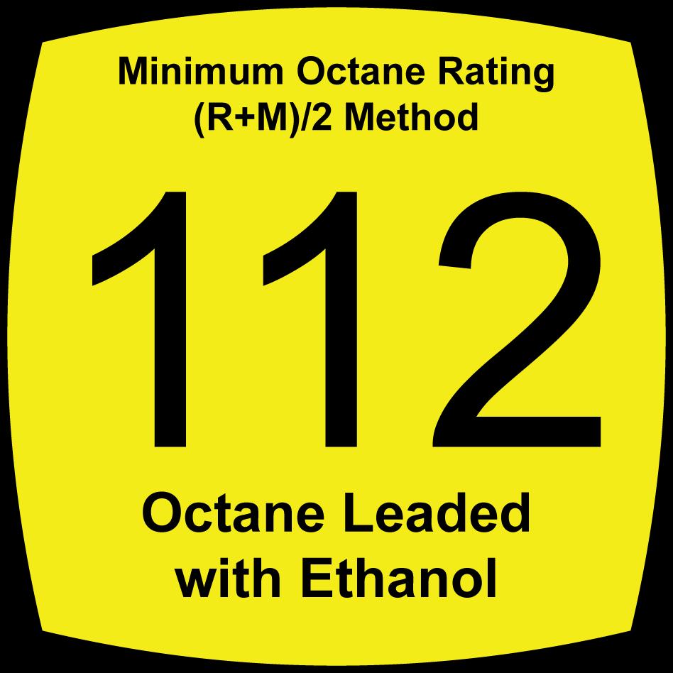 112 Octane Leaded with Ethanol