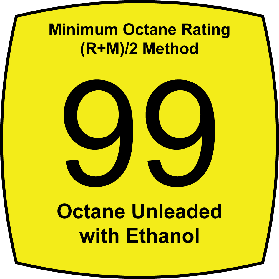 Unleaded 99 Octane Fuel with Ethanol