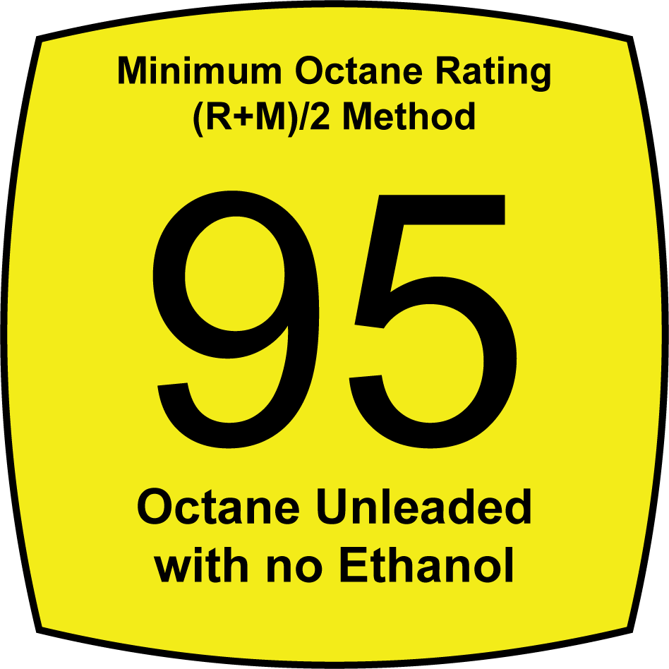 95 Octane Unleaded with no Ethanol