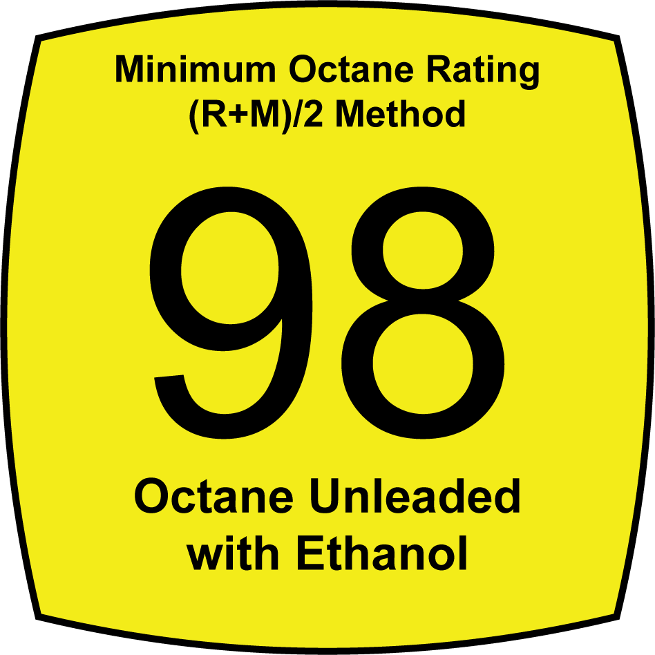 98 Octane Unleaded with no Ethanol