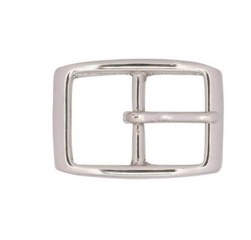 "Nickel  Brass 1-1/4"" Buckle #149"