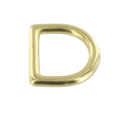 D Ring Solid Brass