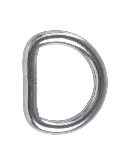 "Heavy Welded Stainless Steel D-Ring,  5/8"", 3/4"", 1"", 1-1/4"", 1-1/2"""