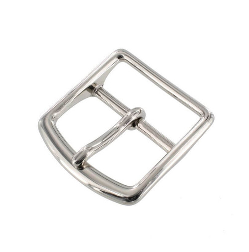 Nickel Brass Center Bar Buckle, 1-1/2 inch