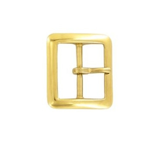 Brass Center Bar Buckle, 1-1/2 Buckle