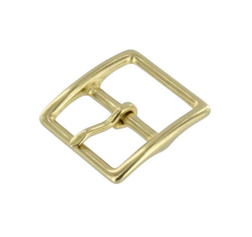"""Small Thin Buckle, Solid Brass, 1"""", 3/4"""", 1/2"""""""
