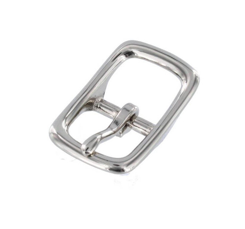 Nickel Center Bar Buckle,  Nickel Over Brass, 3/4""