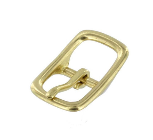 Solid Brass Center Bar Buckle,  3/4""