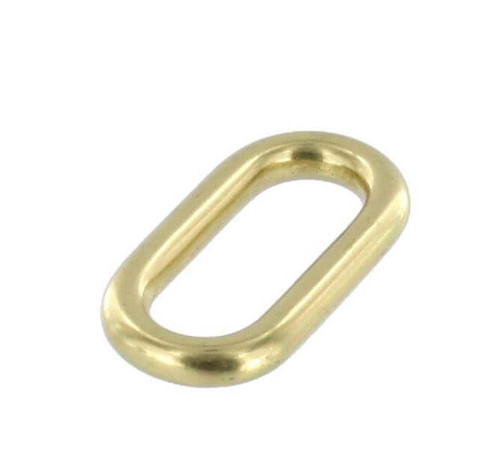 Solid Brass Loop, Strap Keeper