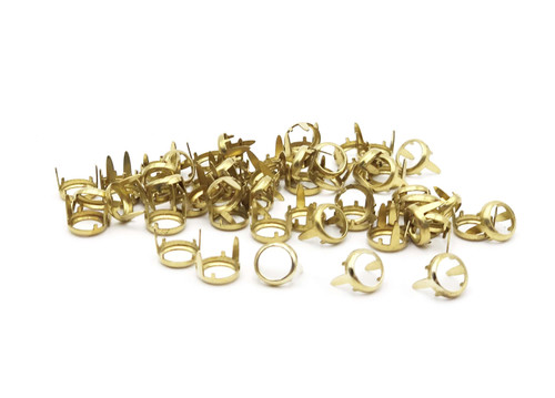Rim Sets, Solid Brass Ring Spot For Crystals, Gemstones,  Flat Back Prong Setting, SS20, SS34, SS40