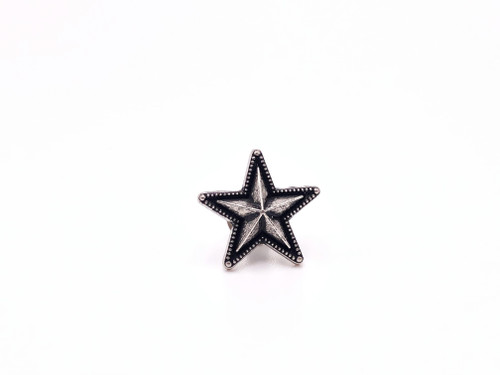 "Raised Star Concho, 3/4"" Antique Silver"