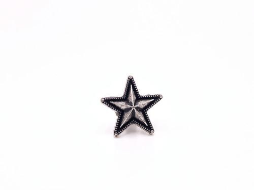 "Raised Star Concho, 3/4"" Antique Silver"