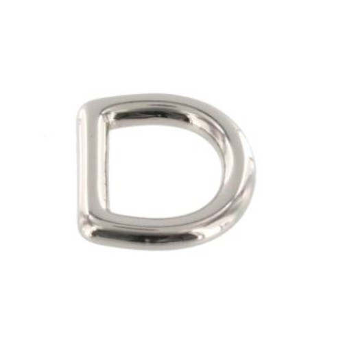 1/2 inch silver d-ring